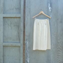 1970s Ultrasuede A Line Skirt in Tan
